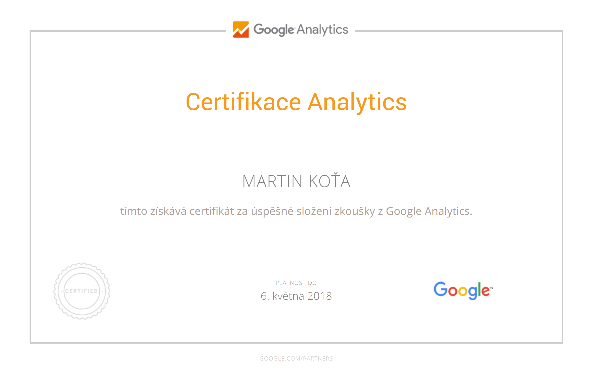 certifikat-google-analytics